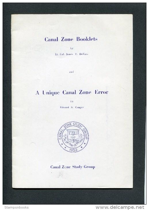 1953 Canal Zone Booklets & A Unique Canal Zone Error CZSG Handbook 2 - Verenigde Staten