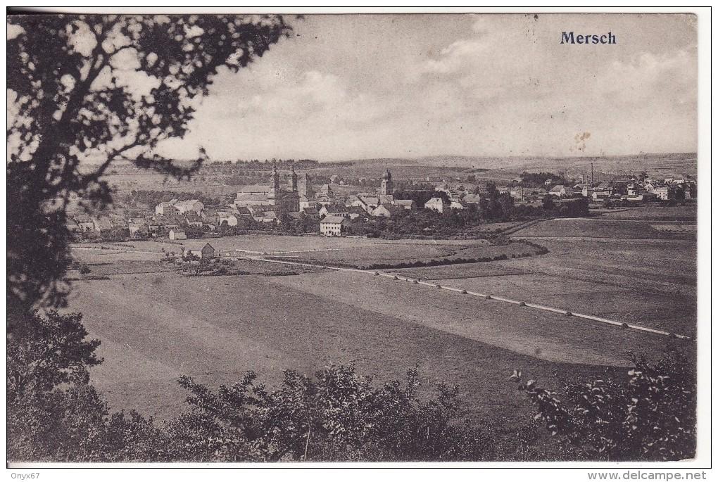 MERSCH (Grand Duché Du Luxembourg) Vue Sur La Ville -Edmond Hansen, Photographe - 2 SCANS - - Cartes Postales
