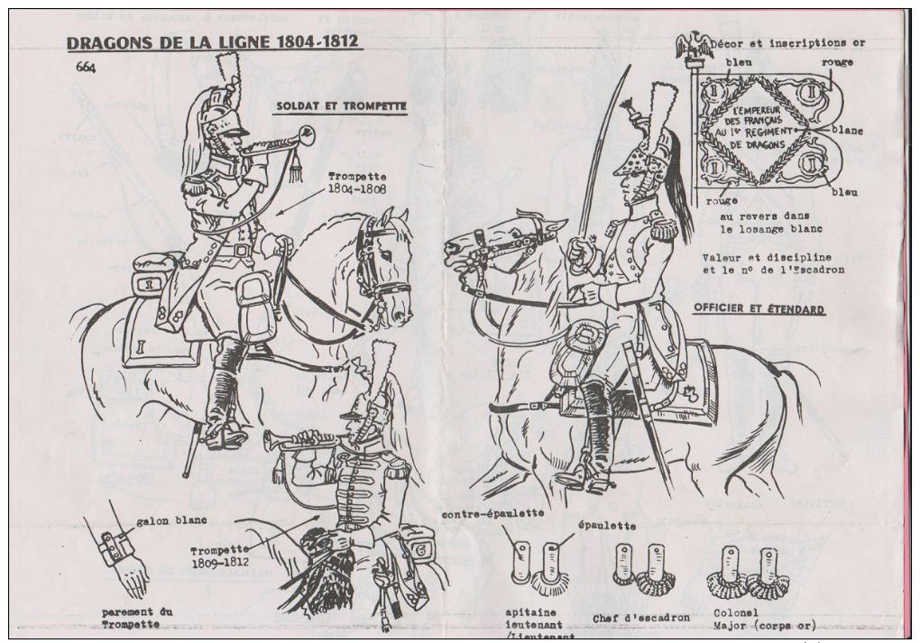 Historex - TENUES - Documentation - Dragons De La Ligne (1804-1812)  N° 8 - Uniformes
