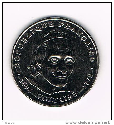 ***  FRANKRIJK  5 FRANCS  1994  VOLTAIRE - France