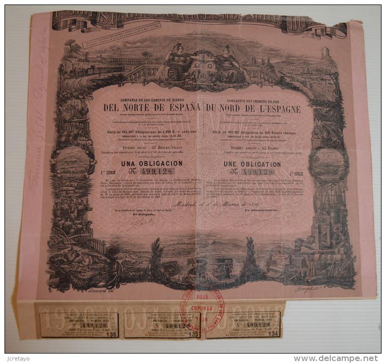 Chemins De Fer Du Nord De L'Espagne, Signée Péronard Illustrateur - Chemin De Fer & Tramway