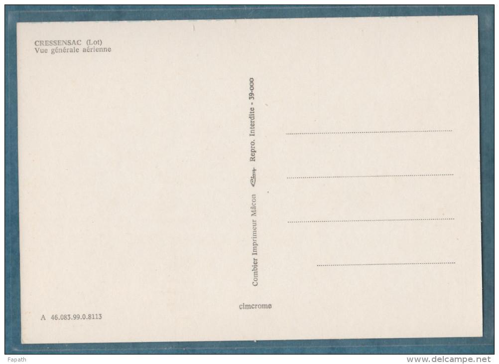 47-CRESSENSAC-Vue Générale Aérienne- Non écrite - 2 Scans -10.5 X 15 - CIM COMBIER - Sonstige Gemeinden