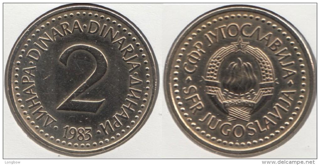 Yugoslavia 2 Dinari 1983 Km#87 - Used - Yougoslavie