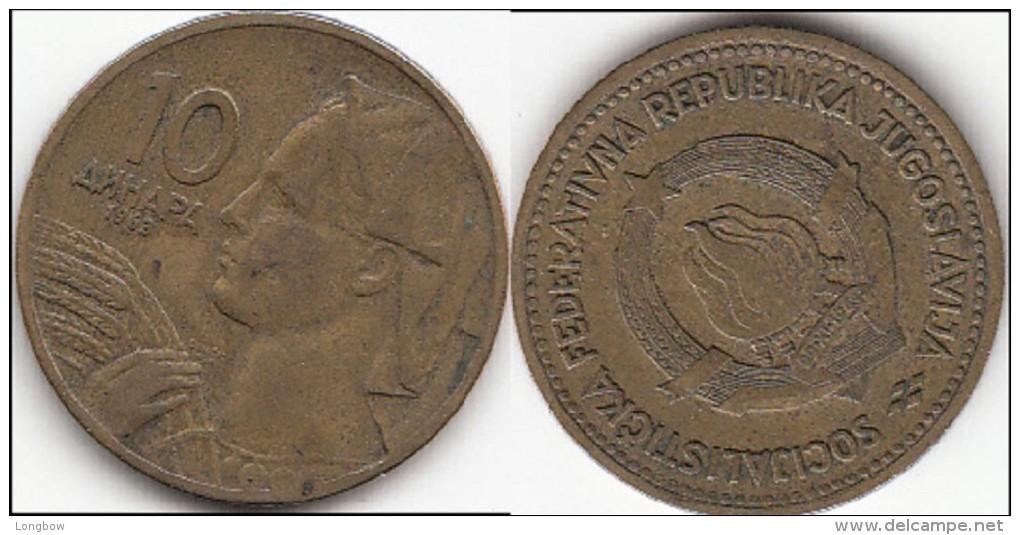 Yugoslavia 10 Dinari 1963 Km#39 - Used - Yougoslavie