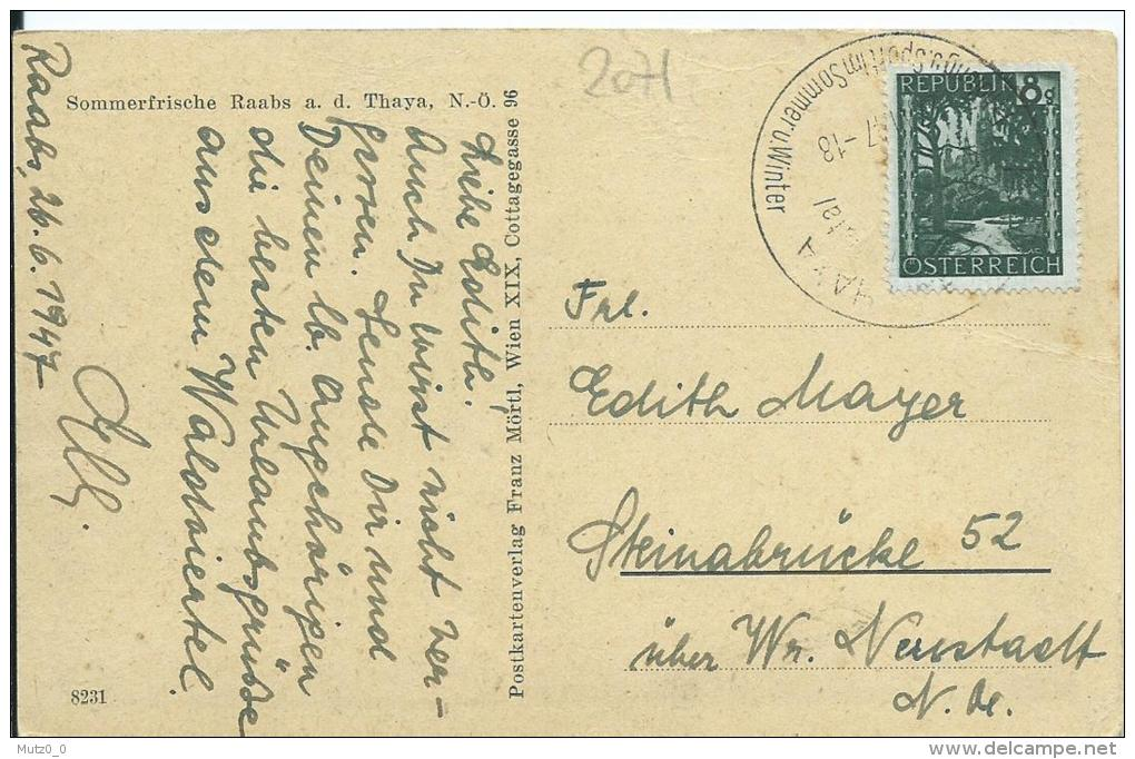 AK 0182   Raabs An Der Thaya - Verlag Mörtl Um 1947 - Waidhofen An Der Thaya