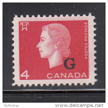 Canada MNH Scott #O48 G Overprint On 4c Elizabeth II Cameo Issue - Overprinted