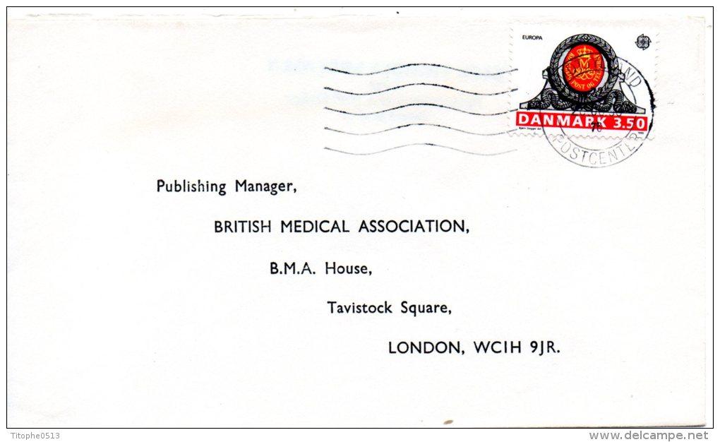 DANEMARK. N°978 De 1990 Sur Enveloppe Ayant Circulé. Bâtiment Postal. - Europa-CEPT