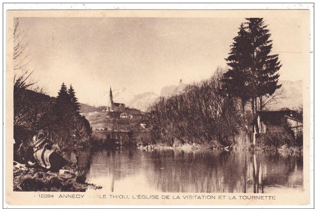 12284   ANNECY   -  LE  THIOU.  L'EGLISE  DE  LA  VISITATION  ET  LA  TOURNETTE - Annecy