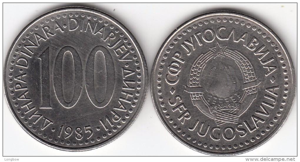 Yugoslavia 100 Dinari 1985 Km#114 - Used - Yougoslavie