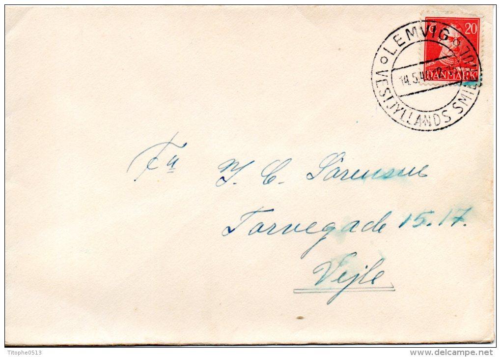DANEMARK. N°284 Sur Enveloppe Ayant Circulé En 1946. Roi Christian X. - Covers & Documents