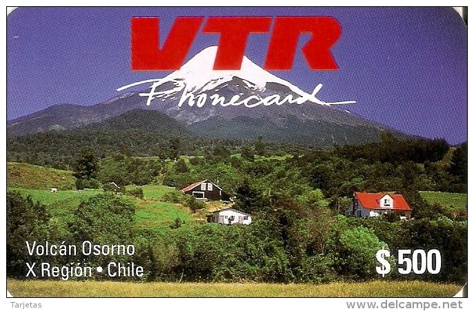 TARJETA DE CHILE DE VTR DEL VOLCAN OSORNO 1ª EMISION (NUEVA-MINT) - Chile