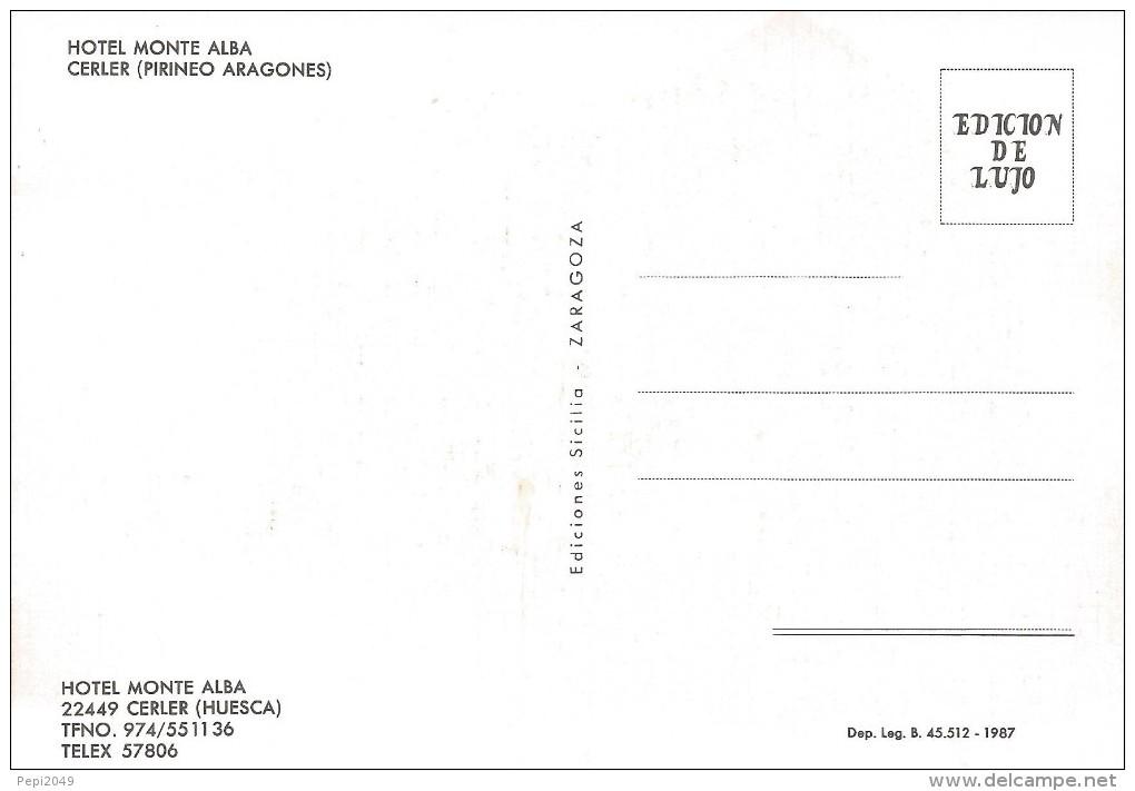 P848 - POSTAL - HOTEL MONTE ALBA - CERLER - HUESCA - Huesca