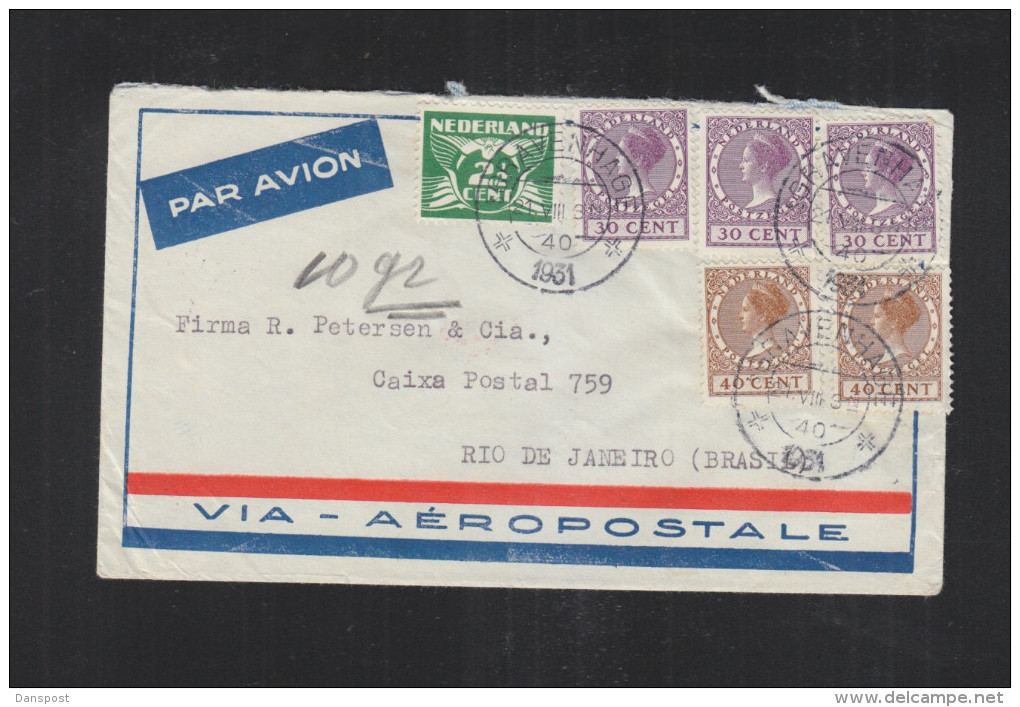 Brief 1931 S'Gravenhage Brazil - 1891-1948 (Wilhelmine)