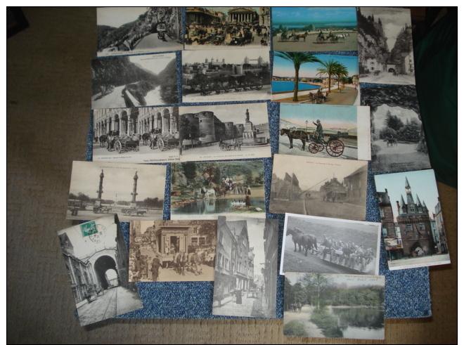 Lot De 37 Cpa .dont ..1 Carte Photo Et 2 Semi-modernes Cartes Postales Attelage De Chevaux ...voir Details - Cartes Postales