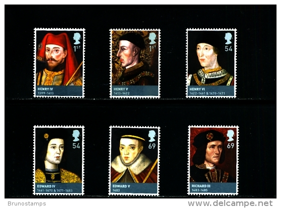 GREAT BRITAIN - 2008  KINGS AND QUEENS  SET  MINT NH - 1952-.... (Elisabetta II)