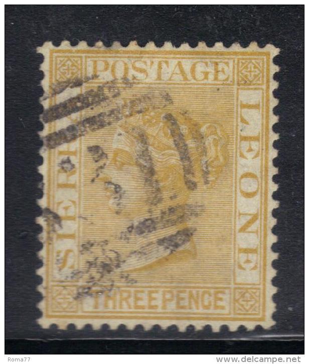 W320 - SIERRA LEONE 1876 , 3 Penny Dent 14 Fil CC : Yvert N 14 - Trindad & Tobago (...-1961)