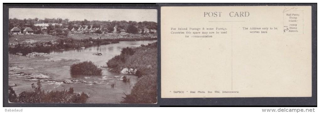 """South Africa: Kruger Park - Rondavels Etc By River(publisher """"SKUSKZA"""") - Afrique Du Sud"""