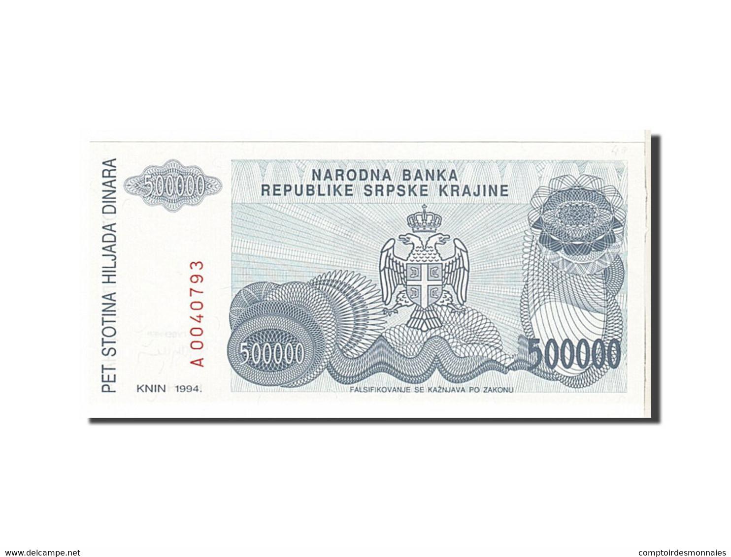 Croatie, 500 000 Dinara Type 1994 - Croatie