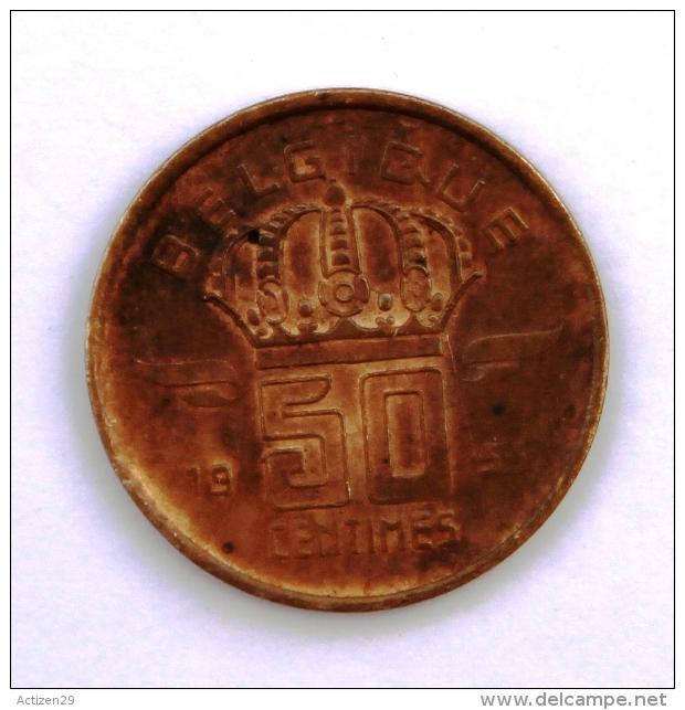 BELGIQUE 50 Cts 1955 Entre  B Et AB - 1951-1993: Baudouin I