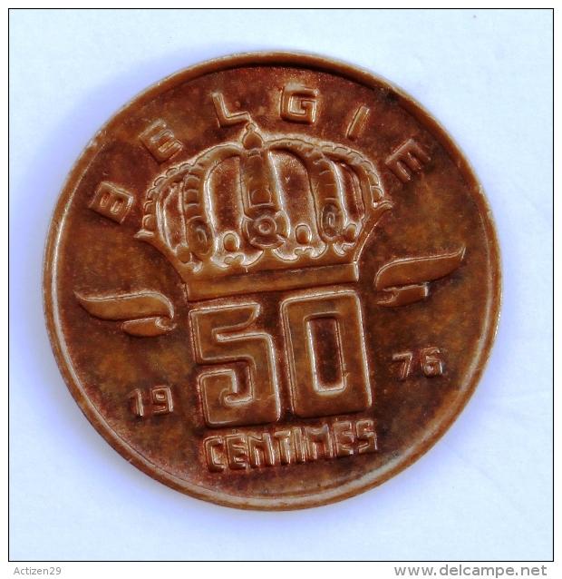 BELGIQUE  50 Cents 1976 Entre TB Et B - 1951-1993: Baudouin I