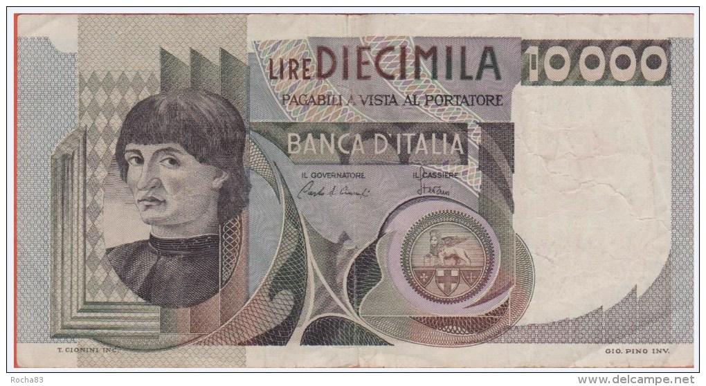 BILLET - ITALIE - 10.000 Lires Du 06 09 1980 - Pick 106b - [ 2] 1946-… Republik