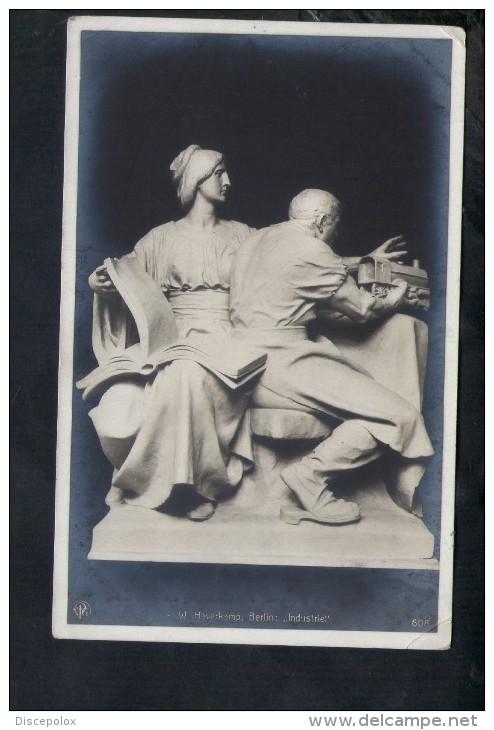 "N1120 W. Haverkamp, Berlin "" INDUSTRIE"" Skulpturen Erster Meister N. 608 - SCULTURA, SCULPTURE, SKULTUR, ART, ARTE - Sculture"