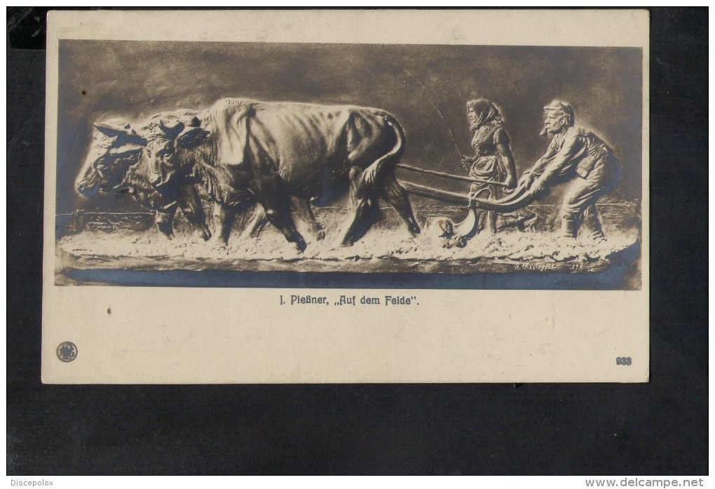 "N1125 I. Piessner ""AUF DEM FELDE ""  Skulpturen  Erster Meister N. 933- SCULTURA, SCULPTURE, ART, ARTE - Sculture"