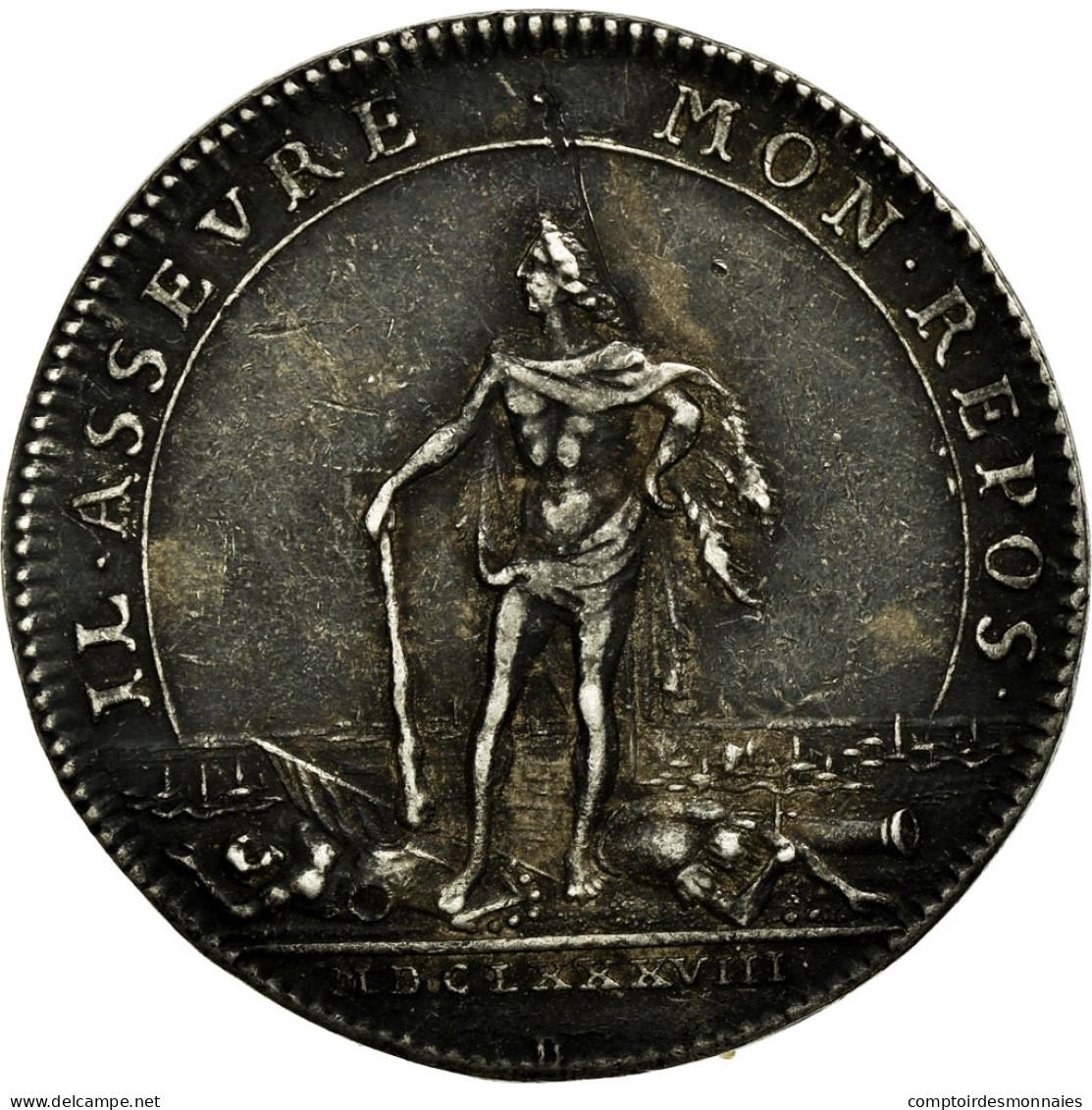 France, Jeton, Royal, 1688, TTB+, Argent, Feuardent:9820 - France