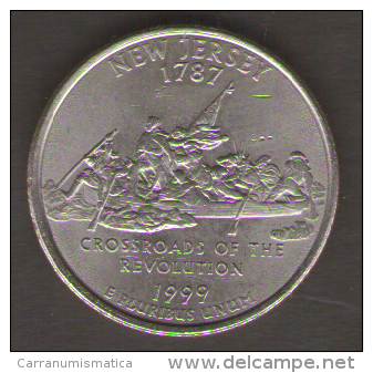 STATI UNITI QUARTER DOLLAR 1999 CROSSROADS OF THE REVOLUTION - Emissioni Federali