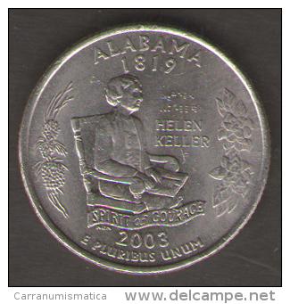 STATI UNITI QUARTER DOLLAR 2003 ALABAMA - Emissioni Federali