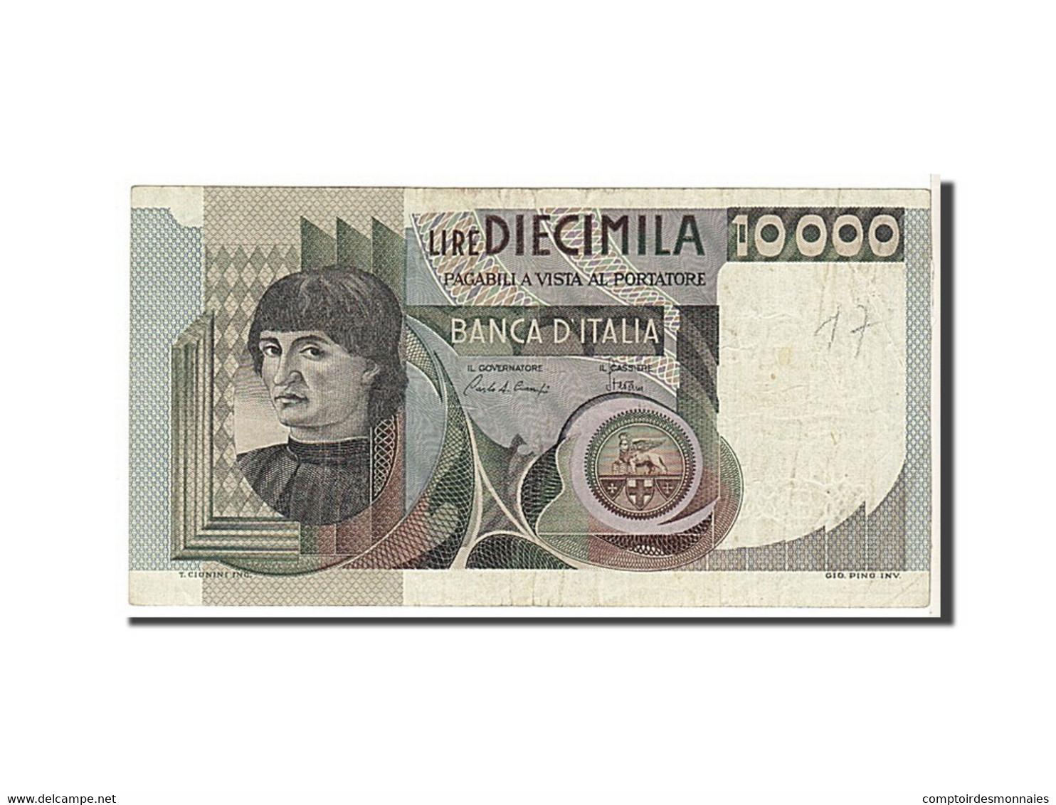 [#111573] Italie, 10 000 Lire Type 1980 - [ 2] 1946-… : République