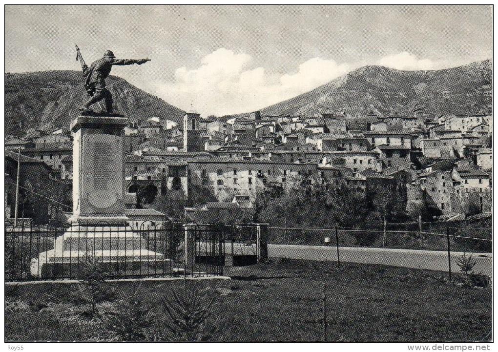 Abruzzo-l´aquila-ortona Dei Marsi Veduta Parte Citta´ E Monumento Ai Caduti - Italie