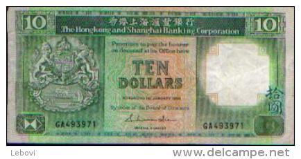 HONG KONG - 10 Dollars - 01.01.1987 - Hong Kong