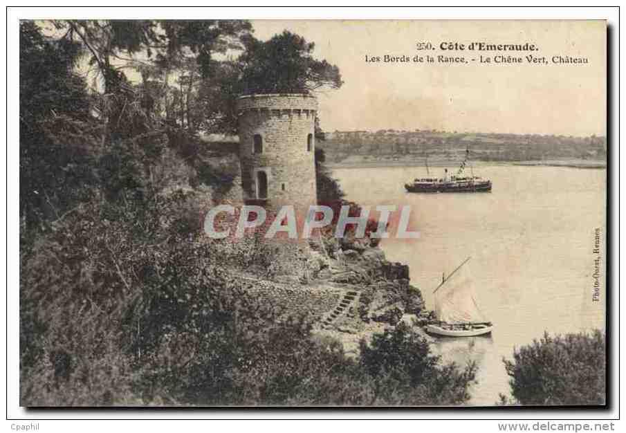 CPA Cote D'Emeraude Les Bords De La Rance Le Chene Vert Chateau - Plouër-sur-Rance