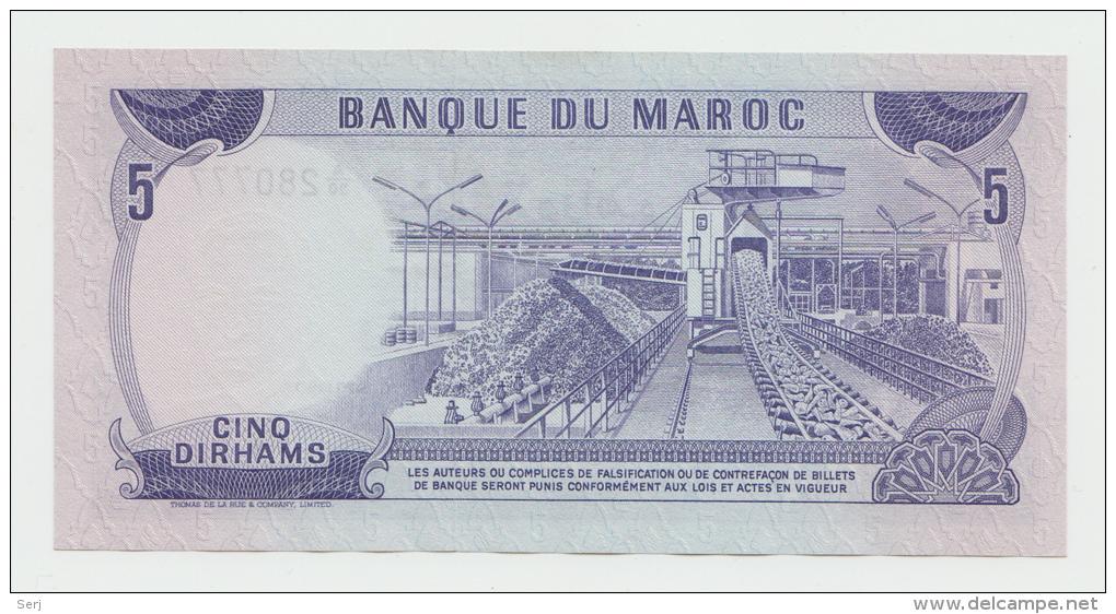 Morocco 5 Dirhams 1970 (AH 1390) UNC NEUF Pick 56 - Morocco