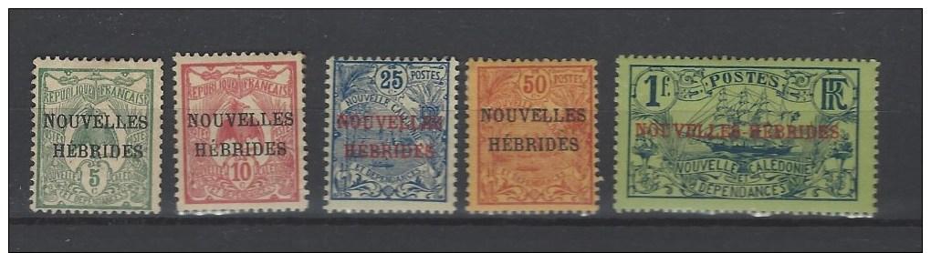 Nouveles Hébrides Nr 1-5 * - France (ex-colonies & Protectorats)