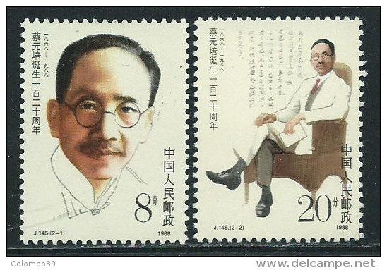 Cina Nuovo** 1988 - Mi.2159/60 - 1949 - ... Repubblica Popolare