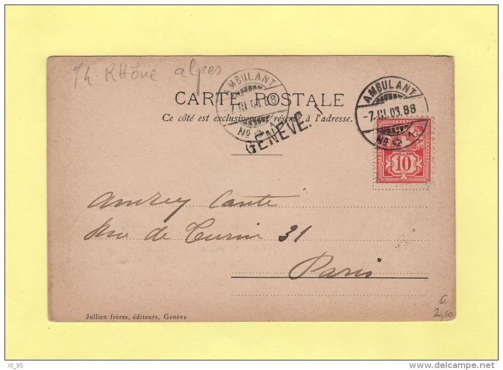 Ambulant N°1 - Geneve - 1903 - Covers & Documents