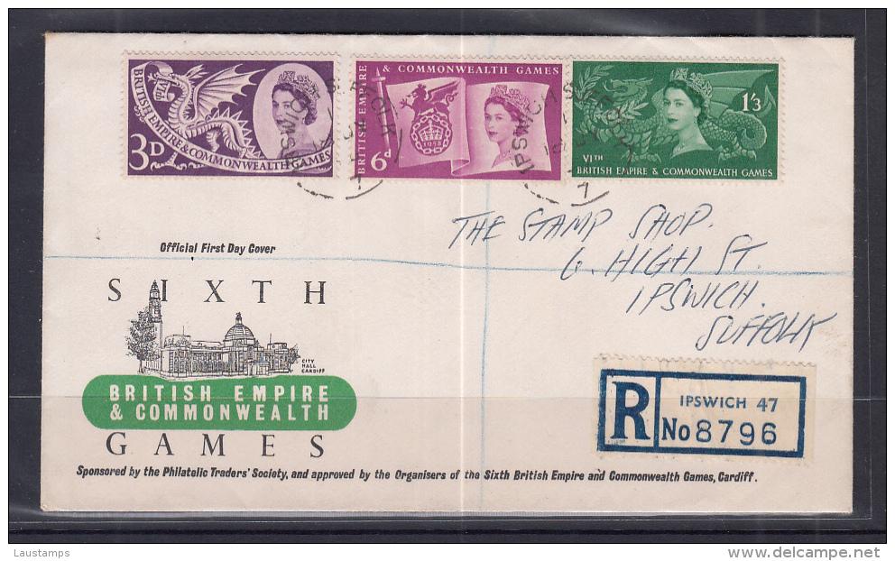 Great Britain 1958 British Empire & Commonwealth Games FDC - 1952-1971 Pre-Decimal Issues