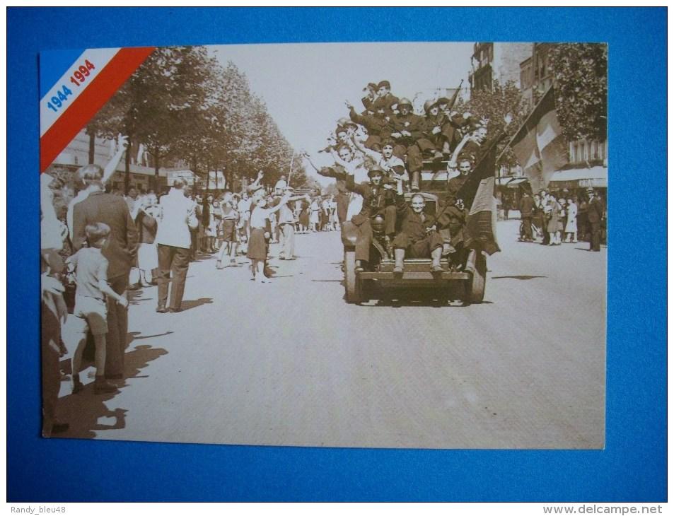 Cpm 50° Anniversaire De La Libération De PARIS  -  L'entrée Des Blindés Dans La Capitale - War 1939-45
