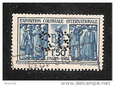Perforé/perfin/lochung France No 274 SG  Société Générale (102) - Perforés