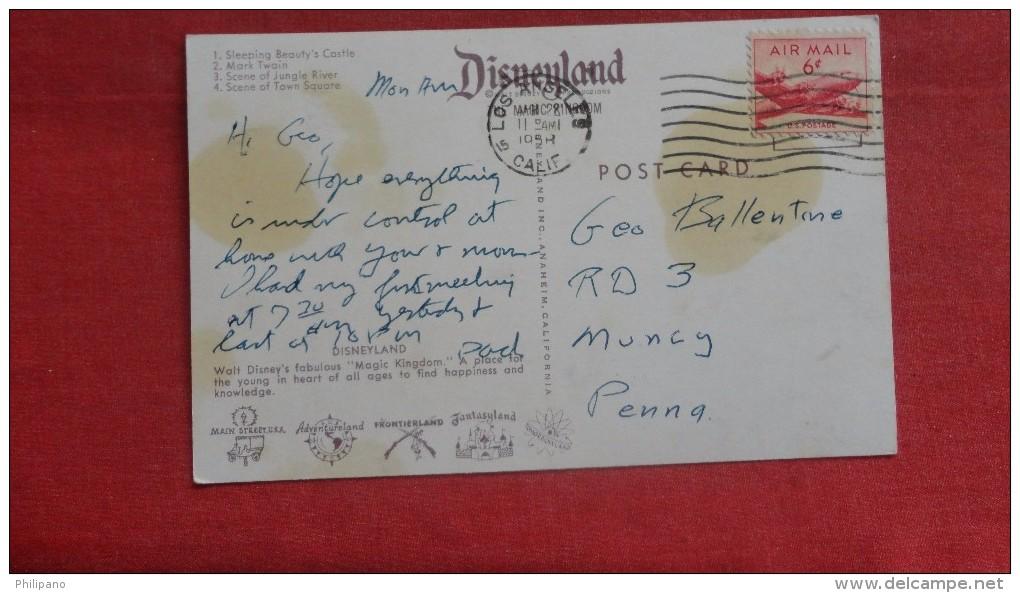 Disney > Disneyland Multi --view  Stain On Back- --------------- Ref 1905 - Disneyland