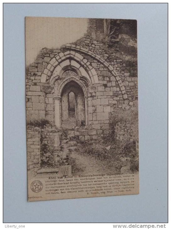 ABDIJ Van AULNE Klaverbladvormige Ingangsdeur ( EEREKAART Vlaeminckx ) Anno 1927 ( Zie Foto´s Voor Details ) !! - Thuin