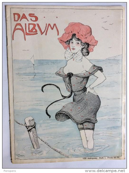 "OLD MAGAZINE  "" DAS ALBUM  ""    FRONT COVER  ILLUSTRATED :  CARL  JOZSA - Books, Magazines, Comics"