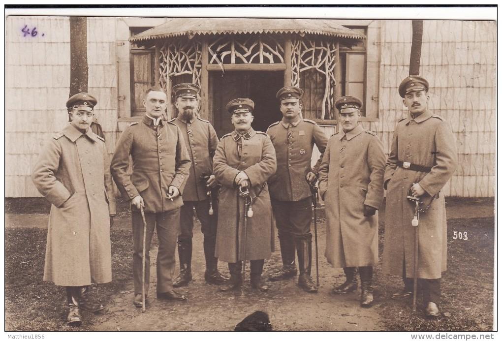 CP Photo Janvier 1916 ELSENBORN - Officiers Allemands Du IR 161, Sabre (A113, Ww1, Wk 1) - Elsenborn (camp)