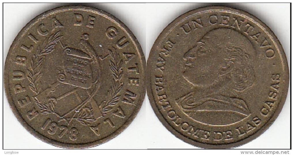 Guatemala 1 Centavo 1978 Km#275.1 - Used - Guatemala
