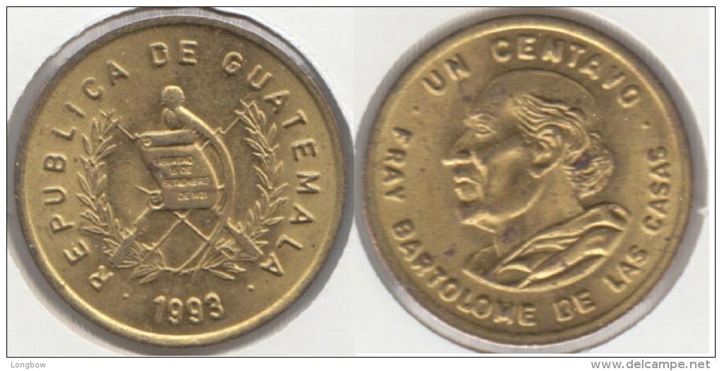 Guatemala 1 Centavo 1993 Km#275.5 - Used - Guatemala