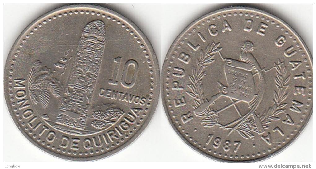 Guatemala 10 Centavos 1987 Km#277.5 - Used - Guatemala