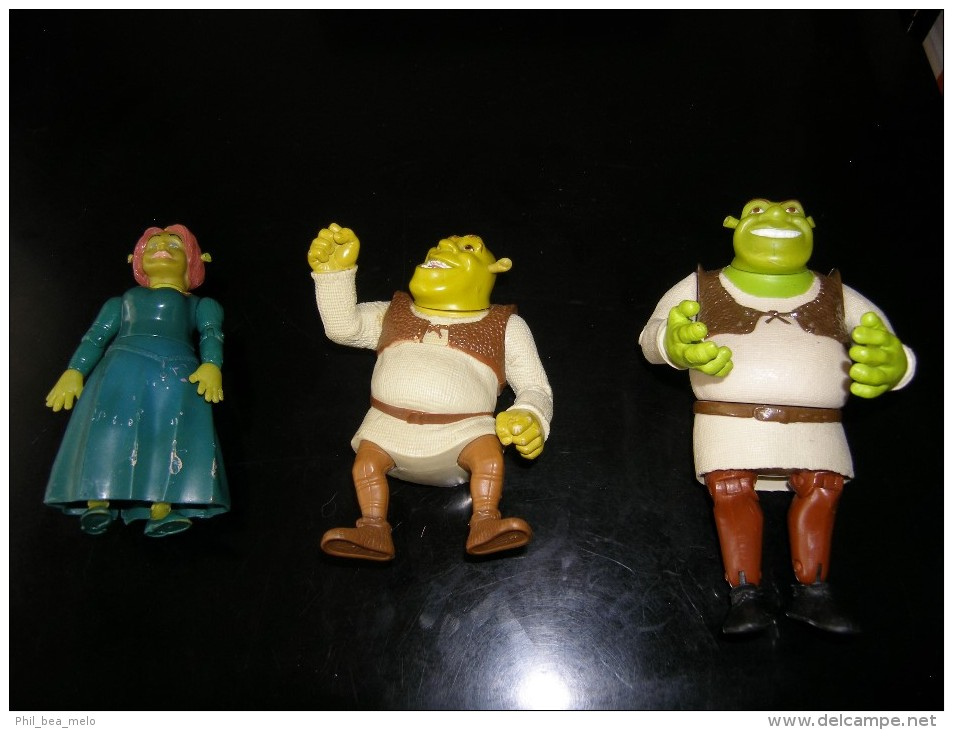 SHREK - LOT DE 3 FIGURINES ARTICULEES - VOIR PHOTOS - Figurines