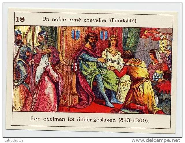 Belgische Geschiedenis - Histoire De Belgique - 18 - Chevalier, Féodalité, Ridder, Knight - Chromos